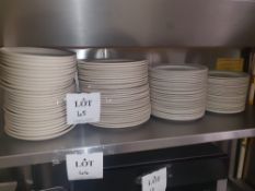 Large quantity of plates