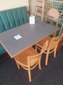 4 seater tables and 2 - wooden chairs