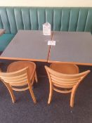2 - two seater tables with 2 - chairs