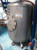 A Porter Lancastrian 825 litre (5 brewers barrel) conditioning tank with 1.5 inch RJT valves and