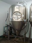A Kunbo KBBFT1300A 2,000 litre cylindro-conical fermenting vessel. Serial number KB20150602003-6