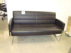 A leather effect multi seat sofa