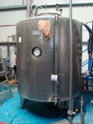 A Moeschle 2,000L cold liquor tank Serial number 21202, with an MTA external chiller pack