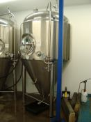 A Kunbo KBBFT1300A 2,000 litre cylindro-conical fermenting vessel. Serial number KB20150602003-5