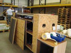 A mobile four pump cask dispensing event bar unit, with travel case