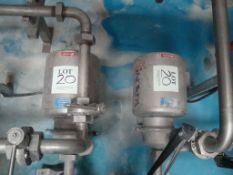 Two Inoxpa beer transfer pumps