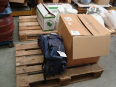 A mixed pallet of pumps and a downlight, all faults, for spares