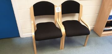 2 - wooden framed chairs