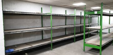 13 - bays of adjustable boltless shelving (bay size 2000m x 800m x 2200mm high)