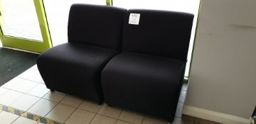 2 - black upholstered chairs