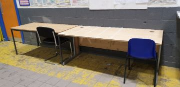 2 - desks and 3 - chairs