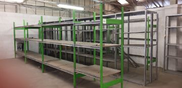 22 - bays of various boltless shelving (bay size 2000mm x 800 x 2200mm)