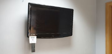 Digimax wall mounted television and remote control