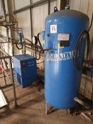 Mark MDX 4100 compressed air dryer with Mark 500 litre welded air receiver 2006 and associated