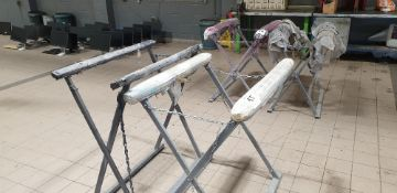 2 - folding spray paint drying stands