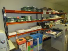 3x Bays of Blue / Orange Boltless Steel Storage Racking - Contents Not Included