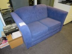 Blue Fabric Upholstered 2 Seater Couch