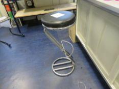 Chrome Steel Bar Stool with Black Vinyl Seat