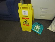 Caution Wet Floor Sign & First Aid Kit