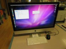 Apple iMac, 27 inch, 2.8GHz Intel Core i5, 4GB RAM, 1 TB HDD, Serial No. W80460CPHJY (Est. mid