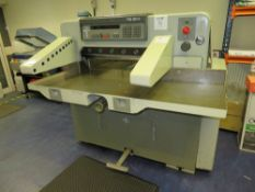 Polar Mohr 76 EM Paper Guillotine, Serial Number 5661976 with Light Guards and 4x Spare Blades