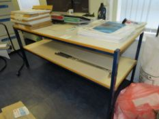 Blue Steel Framed 2 tier Workbench