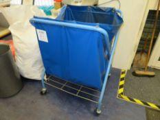 Waste Paper Trolley c/w Castors