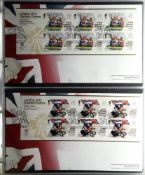 GB.ELIZABETH II 2012 London Olympics Gold Medal Winners first day covers collection in special