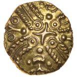 Tasciovanos Taxciavan. c.25BC-AD10. Catuvellauni. Celtic gold stater. 17mm. 5.56g.