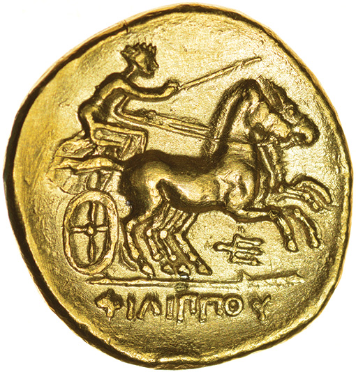 Philip II of Macedon. 359-336 BC. Gold stater of Pella. 19mm. 8.46g. - Image 2 of 2