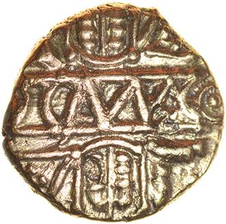 Cunobelinus Biga. c.AD8-41. Catuvellauni & Trinovantes. Celtic gold quarter stater. 11mm. 1.24g. - Image 2 of 2