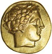 Philip II of Macedon. 359-336 BC. Gold stater of Pella. 19mm. 8.46g.