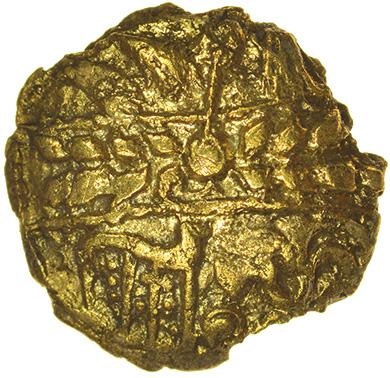 Climping Quarter. c.55-45 BC. Regini. Celtic gold quarter stater. 13mm. 0.95g. - Image 2 of 2