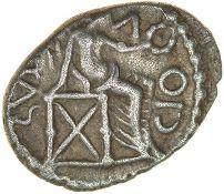Epaticcus Victory. c.AD20-40. Atrebates. Celtic silver unit. 10-13mm. 1.32g.