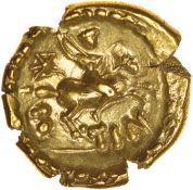 Tincomarus Excrementum. Regini & Atrebates. c.25BC-AD10. Celtic gold stater. 17mm. 5.37g.