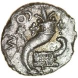 Verica Galley. c.AD10-40. Cantiaci. Celtic silver unit. 12mm. 1.03g.