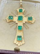 18ct GOLD SET WITH 10.00cts OF EMERALDS - 11.5 GRAMS
