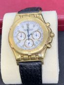 JAEGER LECOULTRE 18ct GOLD CHRONOGRAPH WATCH