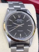 ROLEX PERPETUAL AIR KING STAINLESS STEEL WATCH - APPROX 2000