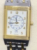 JAEGER LECOULTRE STEEL & GOLD REVERSO WATCH