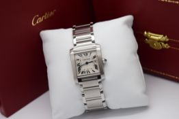 Cartier Tank *Date - Stainless Steel - Roman Numeral Dial