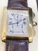 CARTIER 18ct GOLD CHRONOGRAPH WATCH