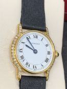 CARTIER 18ct GOLD WATCH SET WITH DIAMONDS