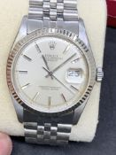 ROLEX DATEJUST WHITE GOLD & STAINLESS STEEL WATCH - APPROX 1980's