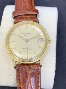 PATEK PHILIPPE 18ct GOLD AUTOMATIC GENTS WATCH - SCREW BACK CASE