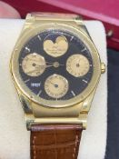 I.W.C 18ct GOLD WATCH WITH PERPETUAL CALENDAR