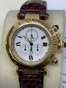 GENTS CARTIER 18ct GOLD PASHA CHRONOGRAPH WATCH