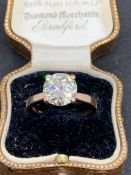 STUNNING 3.03ct DIAMOND SOLITAIRE RING SET IN 18ct ROSE GOLD