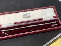 6.05ct DIAMOND TENNIS BRACELET SET IN 9ct WHITE GOLD