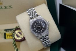 *STUNNING* ROLEX LADY DATEJUST - STAINLESS STEEL - DIAMOND DIAL!